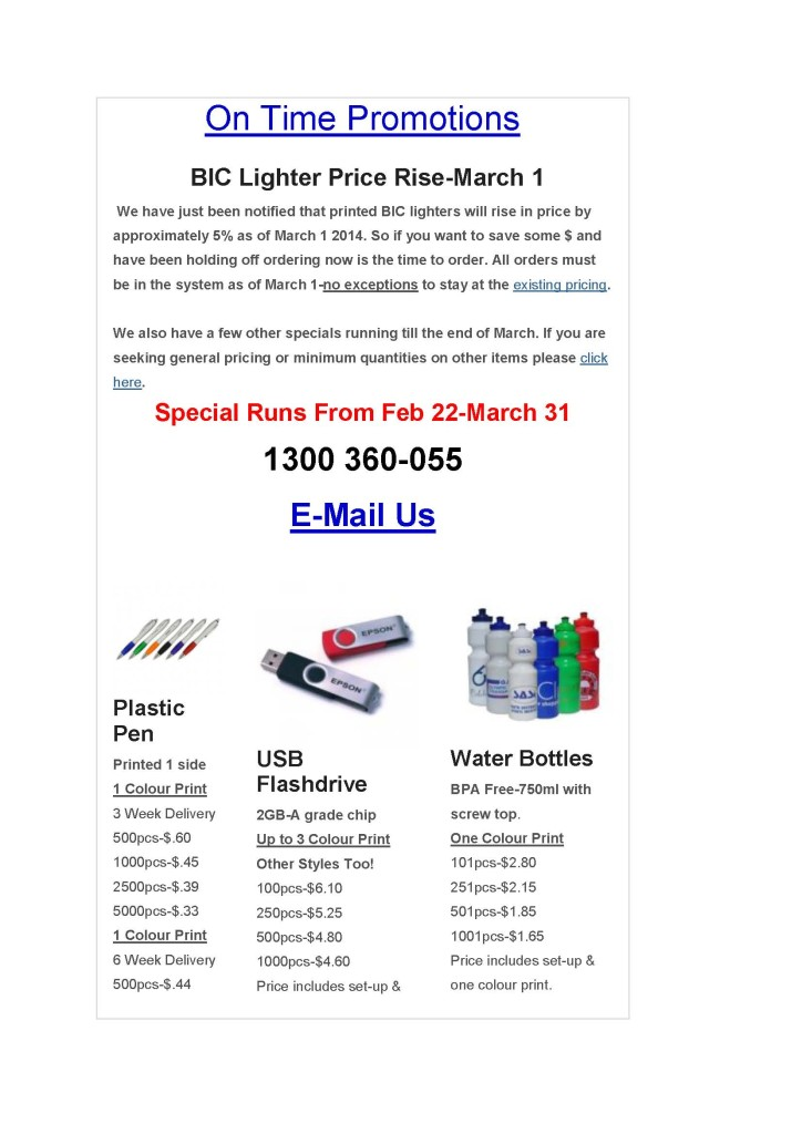 On Time Promotions-March Newsletter_Page_1