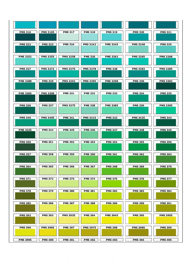 Green Pantone Color Chart Pictures To Pin On Pinterest Pinsdaddy
